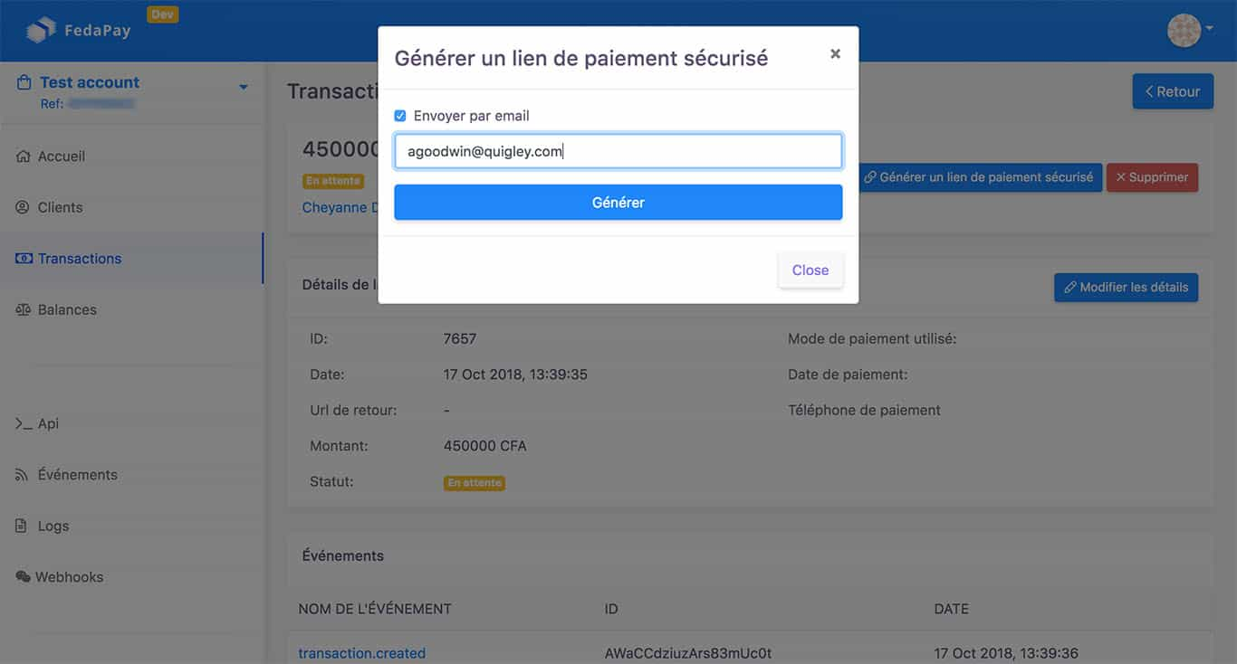 Payer avec Feda Direct